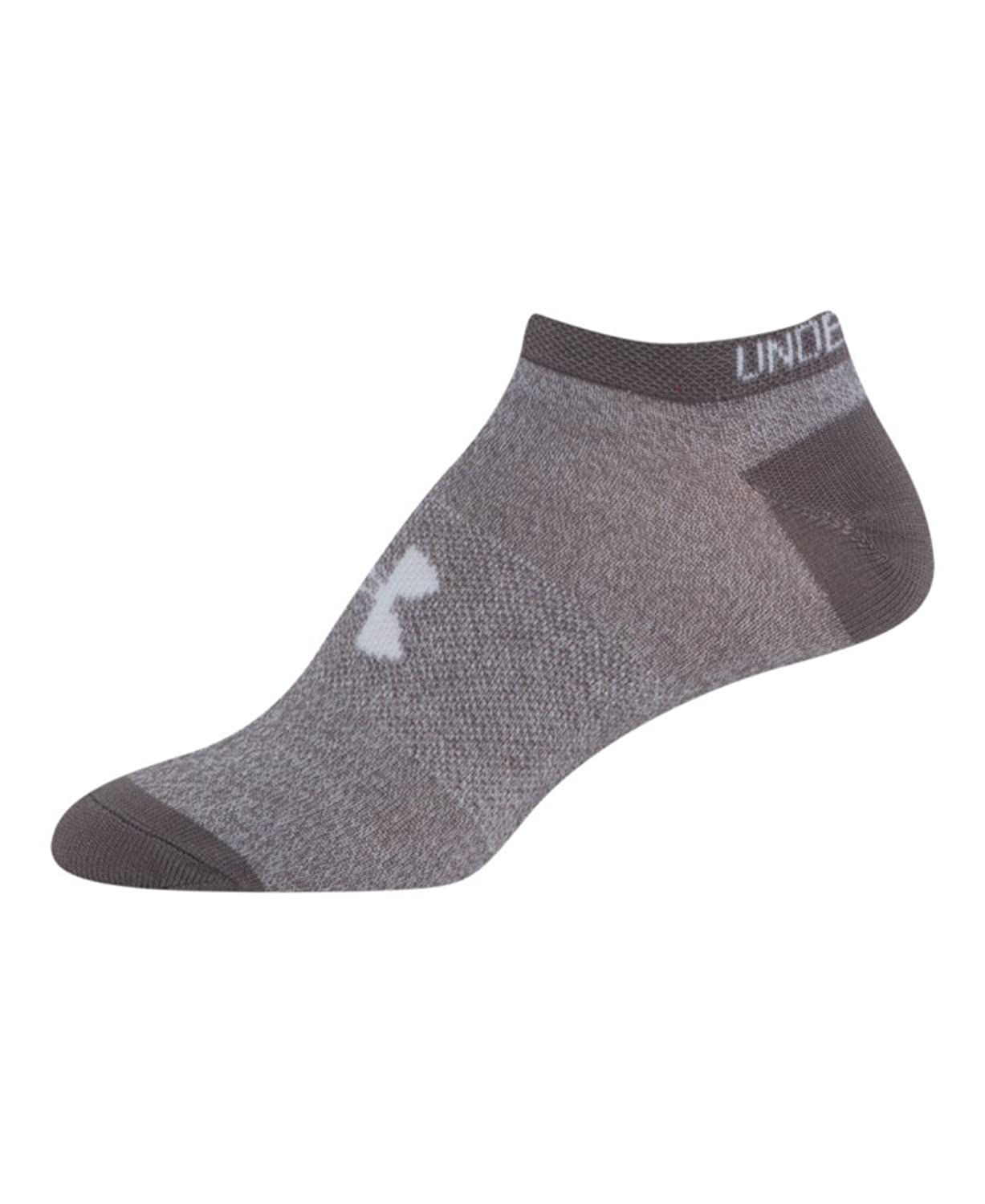 Amazon.com: Under Armour Girls UA Big Logo No Show Socks 6-Pack: Sports & Outdoors