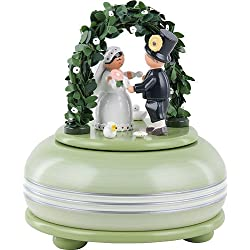 German KWO Wooden Small Musical Box  Hochzeitsfest / Wedding Party  15 cm / 5.9 inch Toys From Erzgebirge - Ore Mountains