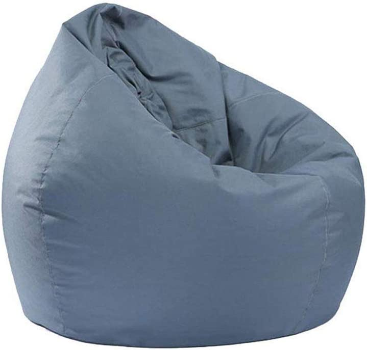 Bean Bag for Adults and Kids Chair Storage, Bean Bag Oxford Chair Cover Teens Adults Lounger Sack Home Waterproof (Grey , One Size )