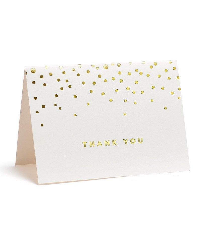 Shoptagr Gold Foil Dots Thank You Cards By Gartner Studios