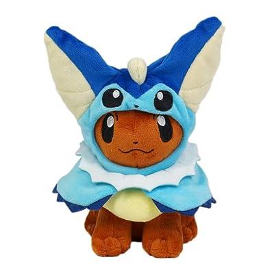 Pokemon Eevee Peluche, Enjoyfeel Stuffed Animal Figuras Poke Doll (Dark Blue): Equipaje
