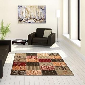 Designer Teppich Wohnteppich Moderner Wohnzimmer Wohnzimmerteppich Lufer Prime Pile Patchwork