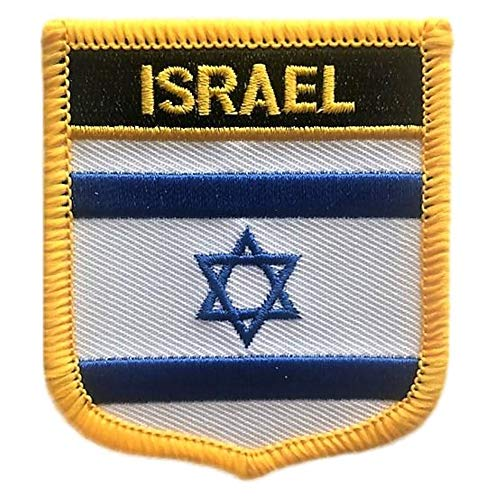 Israel Flag Shield Travel Patch/International Iron On Badge (Israeli Crest, 2.75