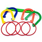 K-Roo Sports Plastic Horseshoe and Ring Toss Game Set (2 in 1)