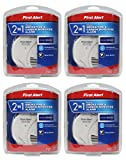 First Alert NCVBHDGH 2-in-1 Z-Wave Smoke Detector & Carbon Monoxide Alarm 4 Pack