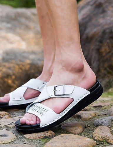 Kleid Nappa Pantoffeln Leather Herrenschuhe Schwarz Sportlich Lässig ShangYi Sandaletten Black Weiß Herren Büro Outddor XqC1zq