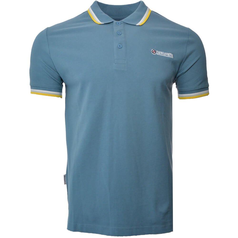 Lambretta Mens Classic Logo Target Short Sleeve Polo Pique Tee T-Shirts