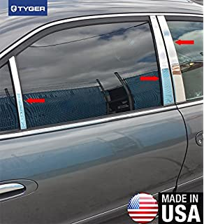 Made in USA Works with 2005-2009 Acura RL Stainless Steel Chrome Pillar Post Trim 6PC