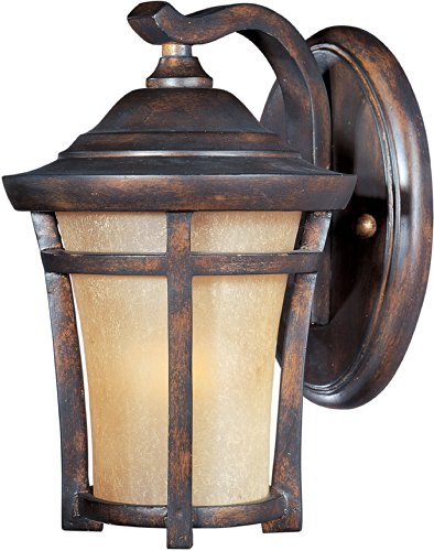 Frost Incandescent Sconce - Maxim 40162GFCO Balboa VX 1-Light Outdoor Wall Lantern, Copper Oxide Finish, Golden Frost Glass, MB Incandescent Incandescent Bulb , 100W Max., Dry Safety Rating, Standard Dimmable, Glass Shade Material, 5750 Rated Lumens