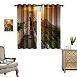 magnificent patio design ideas pictures Anyangeight Great Wall of China Patterned Drape for Glass Door The Magnificent Heritage of World Background Brick Borders Picture Waterproof Window Curtain W55 x L39 Orange Green