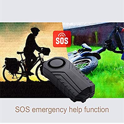 GREENCYCLE 1 Pack IP55 Waterproof Wireless 113dB Vibration Burglar Sensor Alarm for Vehicle Bicycle Electric Tricycle with Remote Control: Car Electronics