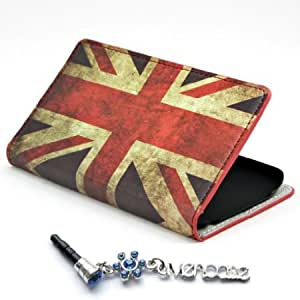 Cerhinu ivencase ' ivencase ' Wallet Retro UK Leather Stand Case Cover for LG G2 + One phone sticker + One ' ivencase...