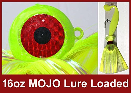 Blue Water Candy - Rock Fish Candy 470ml Cannonball Mojo Lure Loaded with 23cm Swimbait Shad Body (Chartreuse)   B01HZYB6E2