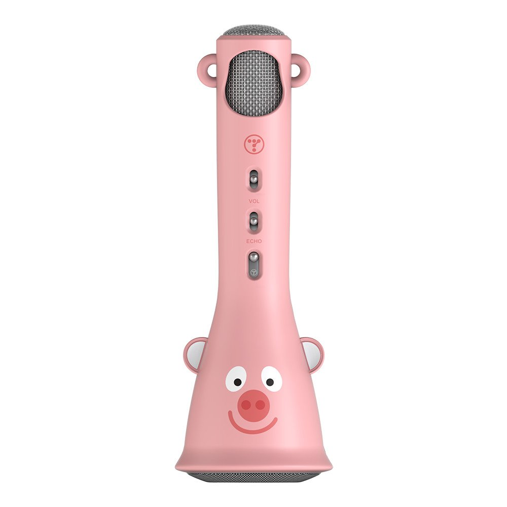 TOSING X3 Microphone for Kids Portable Wireless Microphones Karaoke with Bluetooth Speaker for Music Playing and Singing Machine System for iPhone/Android Smartphone/Tablet (Pink)