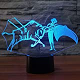 3D Spain Bullfight Night Light Touch Table Desk Optical Illusion Lamps 7 Color Changing Lights Home Decoration Xmas Birthday Gift