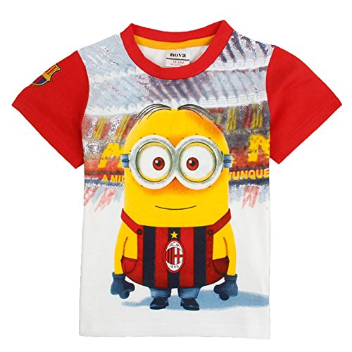 [IGO.]Despicable Me - Minion tees boys Top cotton Short sleeve t-shirt NR-X02_4/5y (Kids Minion Suit)