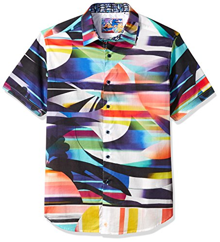 Robert Graham Men's Summer of Love, Multi, X-Large by Robert Graham