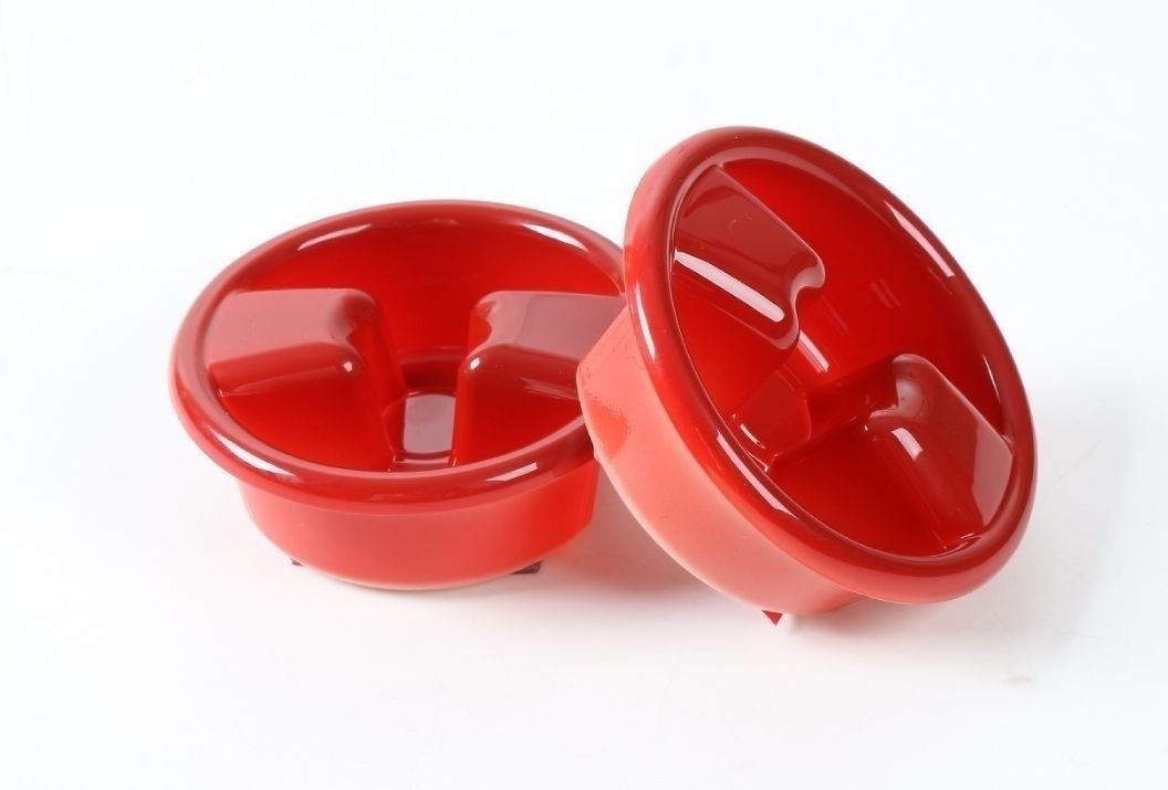 Pulidi Car Roof Switch Knob Decorative Cover For Jeep Wrangler JK 2007-2016 Red 2pcs