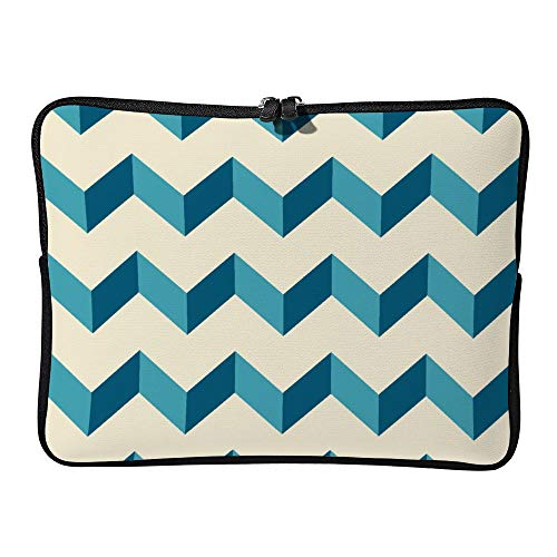 DKISEE Abstract Geometric07 Neoprene Laptop Sleeve Case Waterproof Sleeve Case Cover Bag for MacBook/Notebook/Ultrabook/Chromebooks -