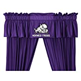 TCU Horned Frogs 5 Pc Valance/Drape Set (Drapes Size 82 X 63) and Matching Wall Flag - Great Bedroom Matching Accessories for that Special Sports Fan!