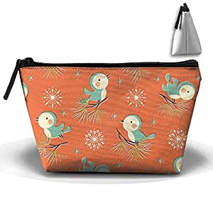 Oxford Cosmetic Bag Vintage Christmas(1894) With Zipper Makeup Toiletry Case For Travel