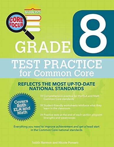 Barron's Core Focus Grade 8: Test Practice for Common Core