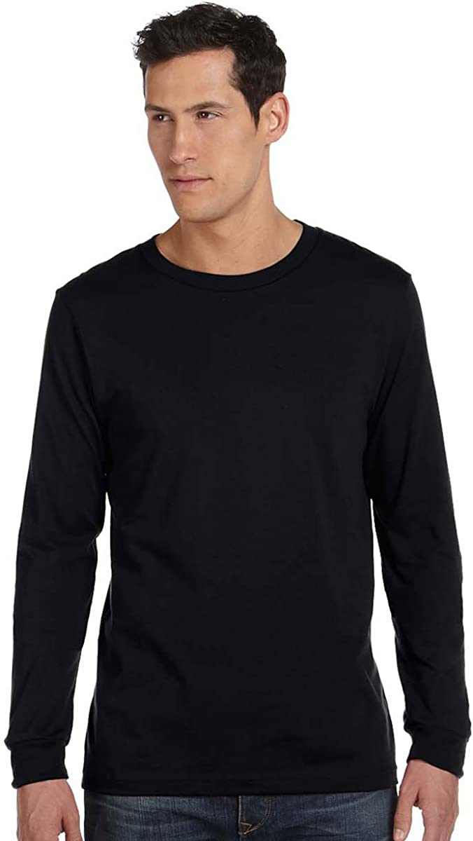 M - Style # 3501 - Original Label Grey Triblend By Bella Canvas Unisex Jersey Long-Sleeve T-Shirt