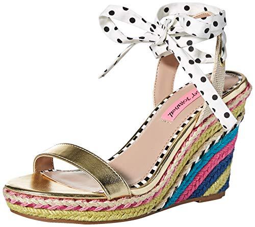 - Betsey Johnson Women's Colvin Wedge Sandal White 8 M US