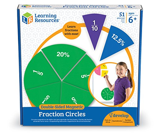 - Learning Resources LER1616 Double-Sided Magnetic Fraction Circles