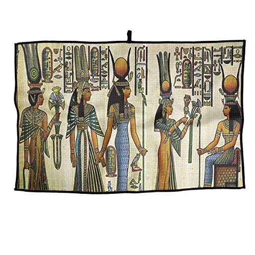 - SNMHILL Ancient Egyptian Goddess Grid Cooling Portable Golf Towel Ice Sports Microfiber 23x14 Inches Travel Towel Chilly Player Towel