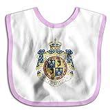 Coat Of Arms Dauphin Of France Soft Cotton Newborns Bid Pinafore Saliva Towels Pink