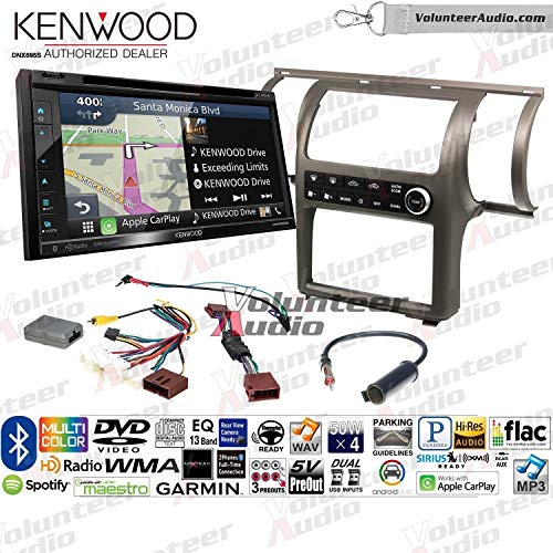 Kenwood Excelon DNX695S Double Din Radio Install Kit With Apple CarPlay, Android Auto, Sirius XM Ready Fits 2003-2004 Infiniti G35 (Pewter) (Dual zone A/C controls) ()