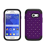 Galaxy Wireless Hybrid Dual Layer Diamond Case for Samsung Galaxy Ace Style S765C / Samsung Galaxy Stardust S765C (Purple / Black Skin)