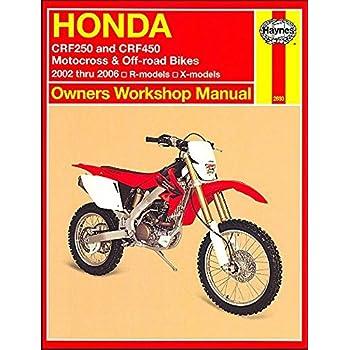 amazon com clymer repair manual for honda crf 250r x 450r x 02 05 rh amazon com 2014 honda crf250r owner's manual 2017 Honda CRF250R
