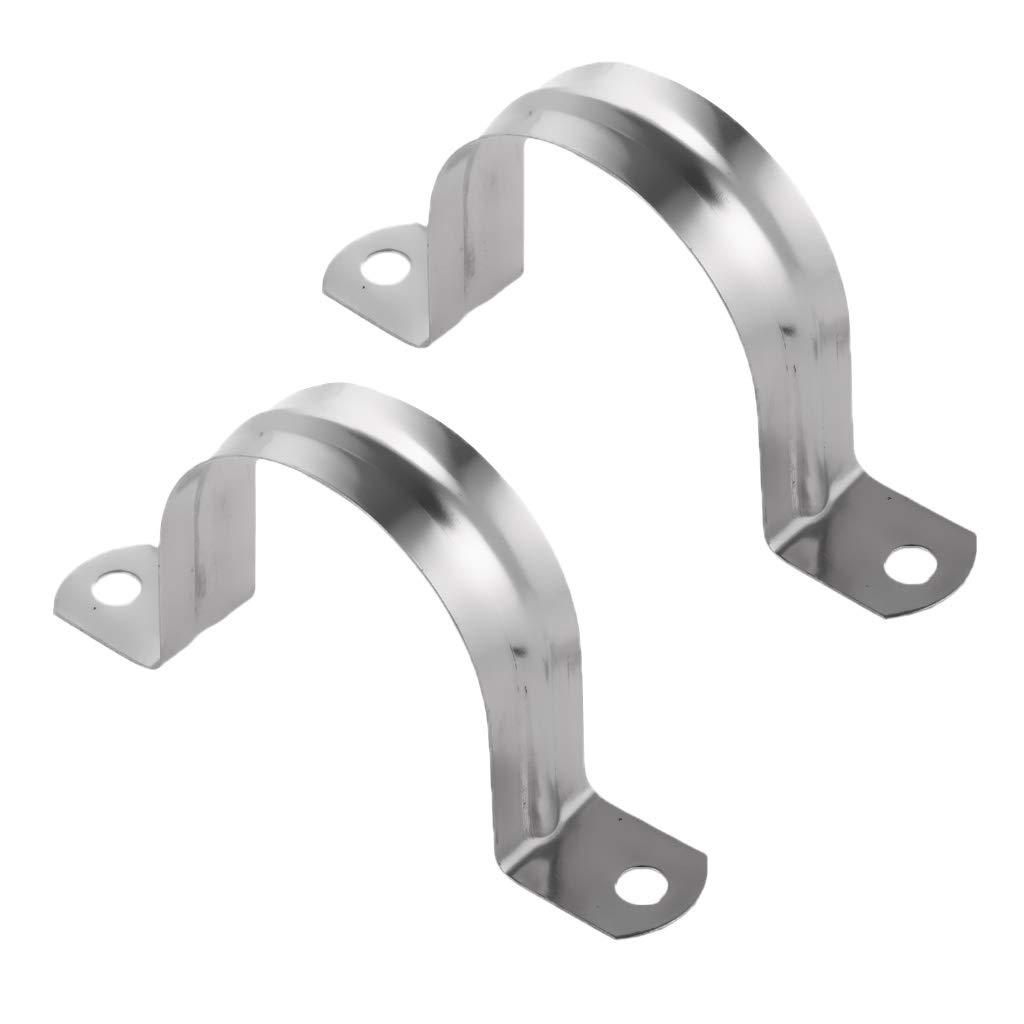 KESOTO 2pcs Rohrklemme Rohrschelle Halbschale Rohrhalterung U-Form Design 60mm
