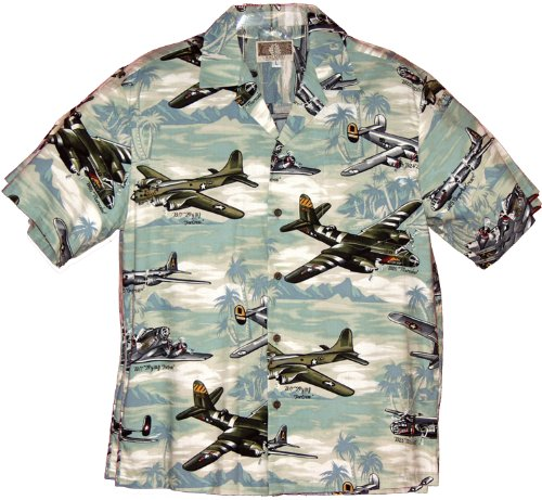 RJC Mens Fighter Bomber Airplanes II Shirt Green S