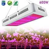 Derlights High Power 600W Led Grow Light Full Spectrum, Red & Blue Mixed with UV+IR, Growing Lamp for Vegetable Flower Budding Horticulture Indoor Garden Greenhouse Hydroponics Growing AC85-265