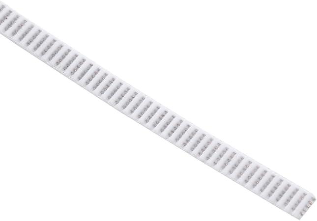 Correa dentada abierta blanca de 10M GT2 para la impresora 3D PU ancha de 6m m con la base de acero: Amazon.es: Bricolaje y herramientas