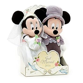 Auténtico Disney, Mickey y Minnie Mouse boda felpa Muñecas Peluche - 2016