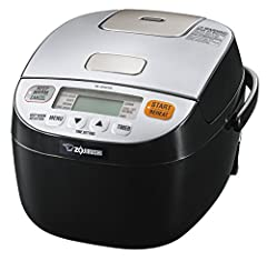 Aided by microcomputer technology, this Zojirushi Micom rice cooker and warmer takes having rice on your menu from occasional to serious. Advanced Fuzzy Logic technology prepares perfect rice every time. Unique healthy menu options include Br...