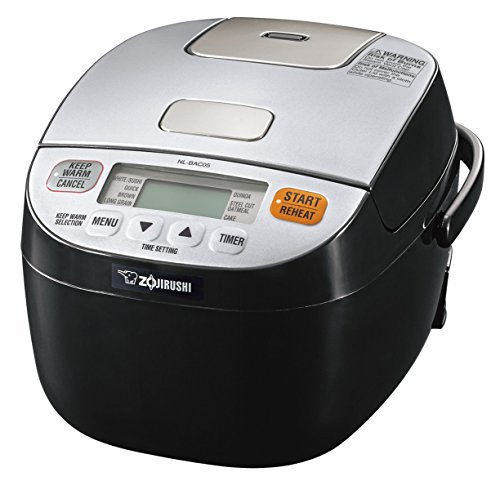 Zojirushi NL-BAC05SB Micom Rice Cooker & Warmer, Silver Black (Rice Cooker Japanese Small)