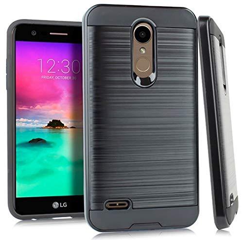 Metallic Hybrid Cover for LG Premier Pro LTE L413DL / LM-L413DL (Black & - Lg Lte Case Access Metallic