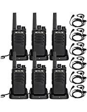Retevis RT68 Walkie Talkies for Adults Long Range FRS Hands-Free Rechargeable Two Way Radio with Earpieces (6 Pack)