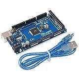 Elegoo MEGA 2560 R3 Controller Board ATmega2560 ATMEGA16U2 with USB Cable Blue Version Compatible With Arduino Mega Kit
