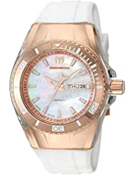 Technomarine Womens Cruise Quartz Stainless Steel and Silicone Casual Watch, Color:White (Model: TM-115326)