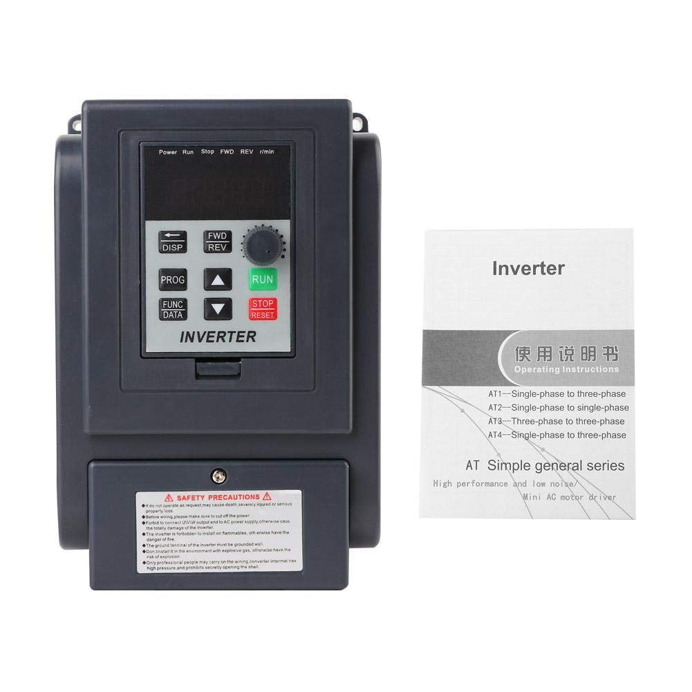 Universal 1-Phase 220V Input 3-Phase 380V Output 1.5KW VFD Variable Frequency Inverter Speed Controller by Xinwoer