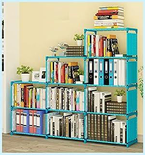 L x W x H 4 Tiers Nonwoven Fabric Kids Bookshelf Shelf Bookcase Small Waterproof Home Furniture Children Books Closet Storage 16.54 x 10.24 x 37 LEHUO HOME