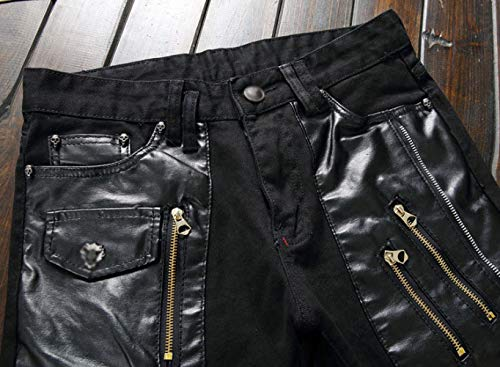 de pequeña los Modelos Que la WFL de Recta Rectos Que Estire Pantalones de Hombres los máquina Negro Adelgaza Pantalones Carga Vaqueros Rectos los básicos Cremallera FqwwtHn8