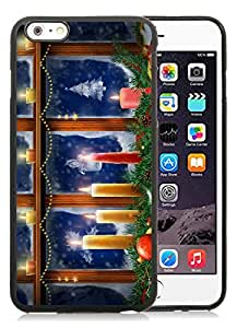 Custom iPhone 6 Plus Case,Merry Christmas Black iPhone 6 Plus 5.5 TPU Case 53