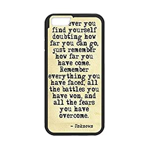 """Cool Designed Soft TPU Case for iPhone 6 4.7"""" Plastic Protective Case Cover with Bible Verse -Black20725"""